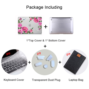 Image 4 - MTT Floral Laptop Case For Macbook Air Pro 11 12 13 15 16 Touch Bar Crystal 2020 Hard Cover for macbook air 13 a2179 a1932 a1466