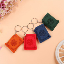 Mini Muslim Ark Quran Book Key Chain Ring Car Bag Purse Real Paper Can Read Pendant Charm Christian Style Accessories