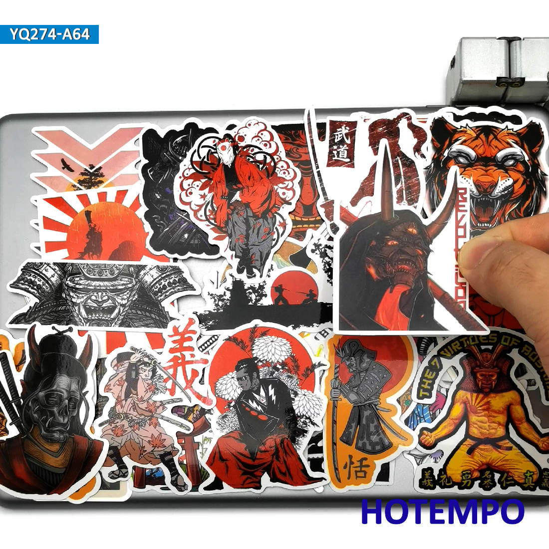 Наклейки в стиле японского самурая Бусидо духа, 60 шт 2