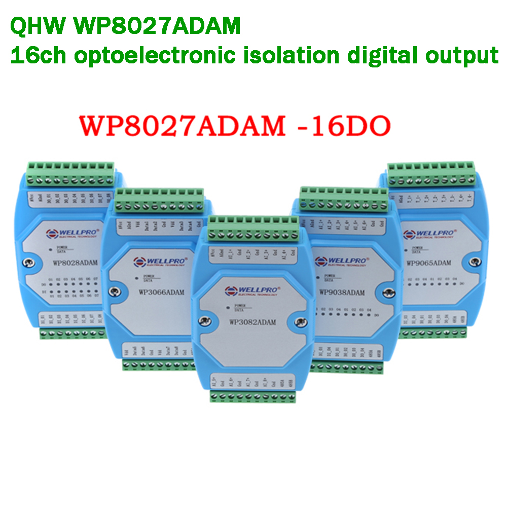 16ch Optoelectronic Isolation Isolated Digital Output RS485 MODBUS RTU Communication PLC Lightening Protection Signal Collection