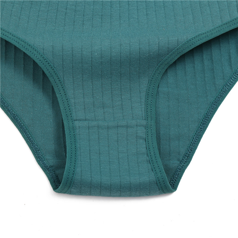 Hfb4504b5bef049ffafa9ca9e294712dcd Ropa interior de algodón suave para mujer, calzoncillos de colores sólidos a rayas, lencería Sexy para mujer, M-XL íntima