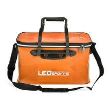 40cm/45cm Foldable Fishing Bag Outdoor Folding EVA Fishing Bucket Fishing Bag Case Portable Camping Hiking Bag Box with Handle