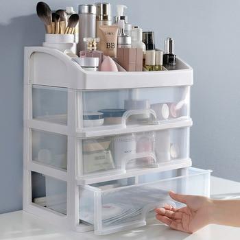 Jewelry Container Make Up Case Makeup Brush Holder Organizers Box Makeup Organizer Drawers Plastic Cosmetic Storage Box