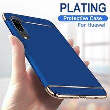 Coque de protection plaquée pour Huawei, 3 en 1, étui rigide de luxe pour téléphone portable P10, P20, P30, P40 Lite, Mate 10, 20, 30, 40 Pro