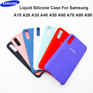 Original Samsung Galaxy A10 A30 A40 A50 A60 A70 A8S Back Case Liquid Silicone Case Silky Soft-Touch Finish Back Protective Cover