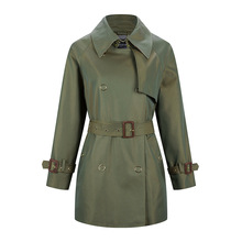 2019 New Autumn Women's Metal Buckle Decorated Cotton England Long Windbreaker Women Trench Coat for Women insight guides new england
