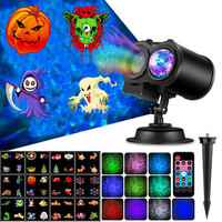 Home LED Spotlight Projector With Remote Control Waterproof Landscape Flood Light Christmas Party Water Wave Lamp