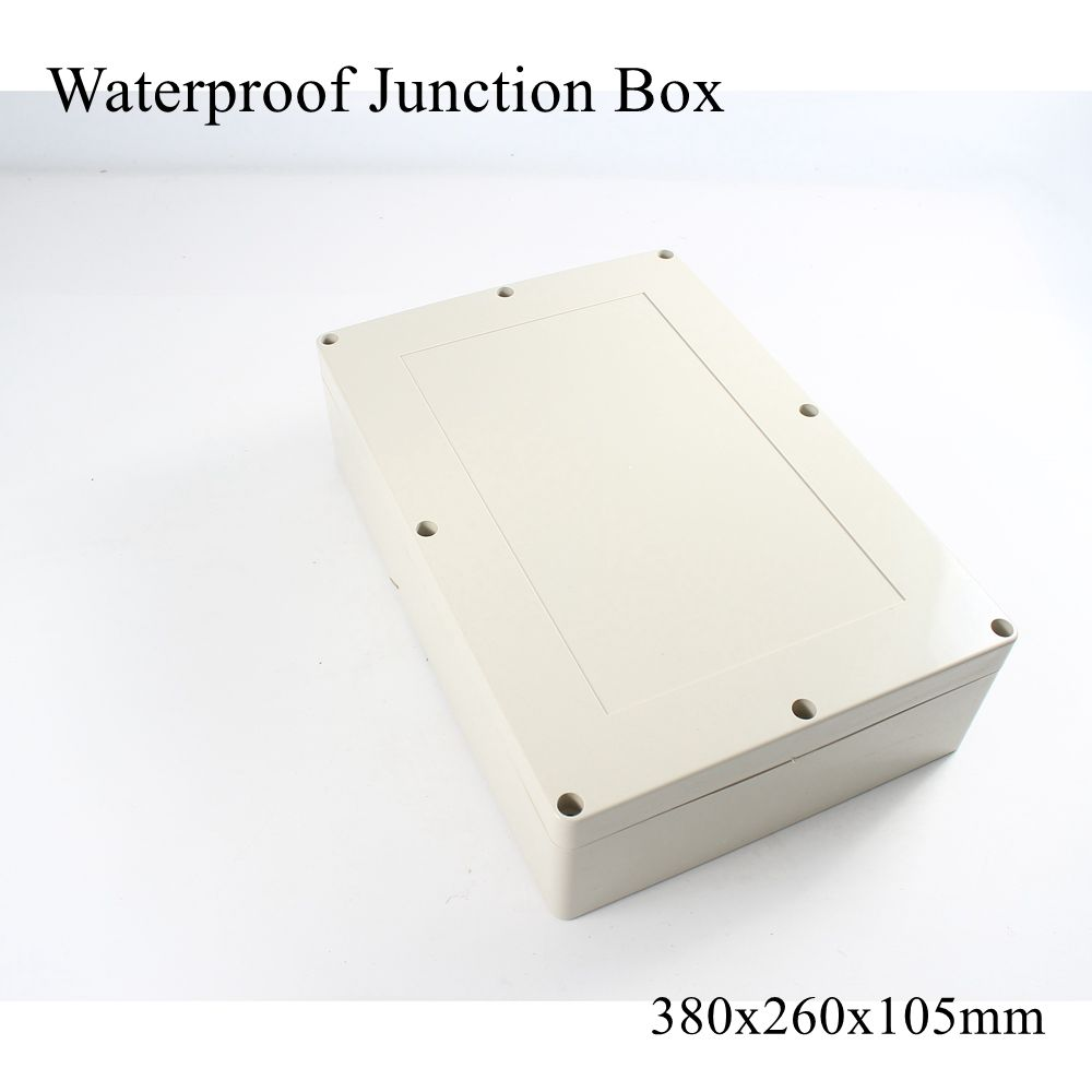 380x260x105mm Waterproof Plastic Enclosure Box Outdoor Cable Connection Junction Electrical Project Case ABS IP65 380*260*105mm