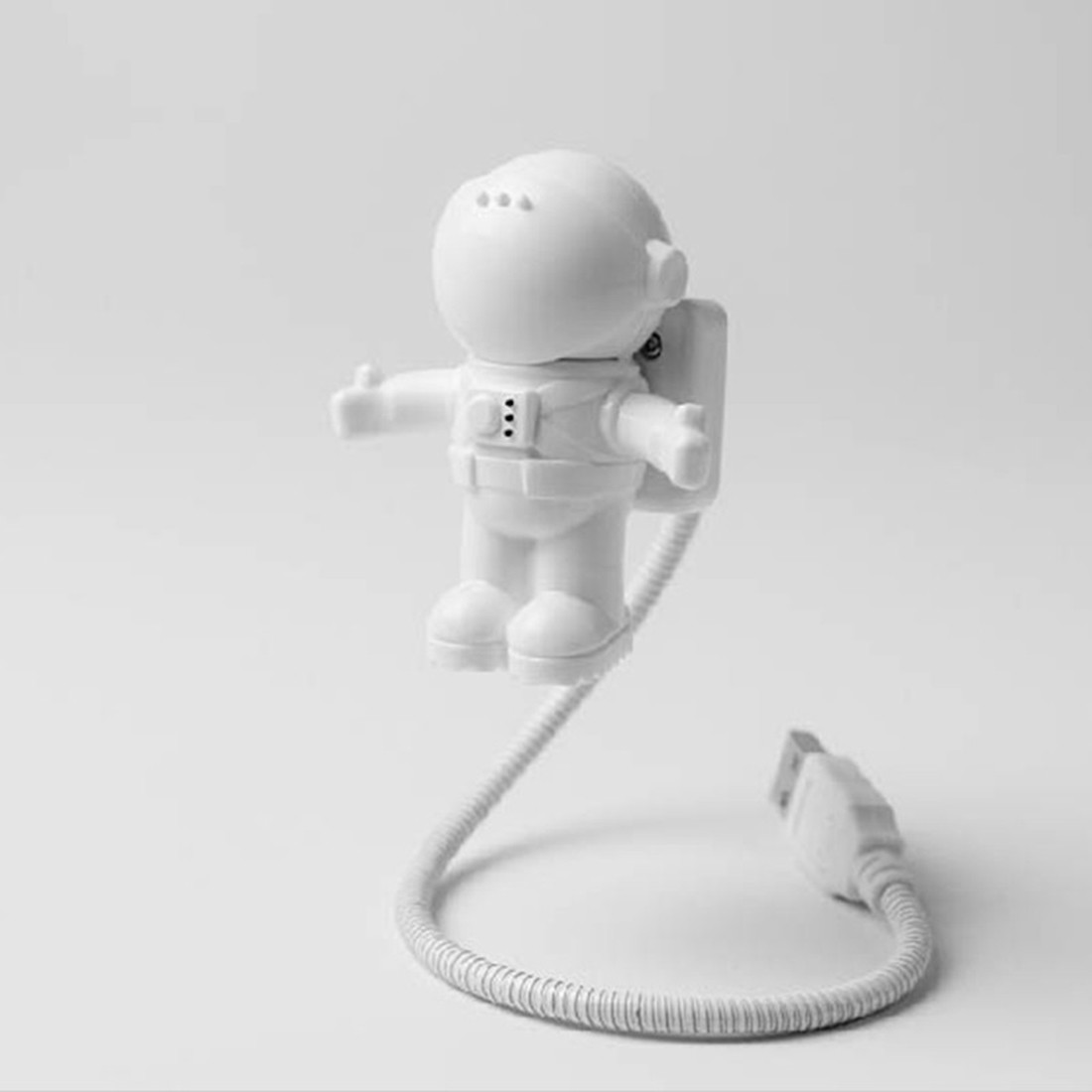 New Style Cool New Astronaut Spaceman USB LED Adjustable Night Light For Computer PC Lamp Desk Light Pure White Free Postage