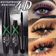 4d fibra de seda rímel à prova deasy água fácil de secar natural macio longo cílios maquiagem rímel preto grosso cílios cosméticos