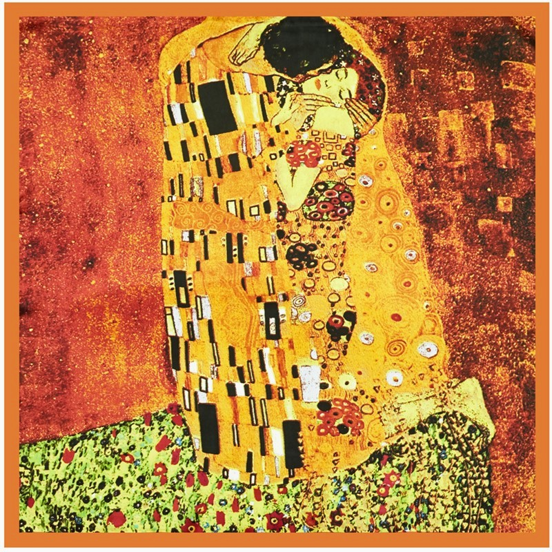 Van Gogh Oil Painting Silk Scarf Bandanna Women Scarf Fashion Foulard Scarves Novelty  Neckerchief Printed Handkerchief SQ001