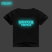 stranger things camiseta kids baby Tshirt Summer Short Sleeve T-shirts unisex tops tees Costume Stranger Things shirt disfraz