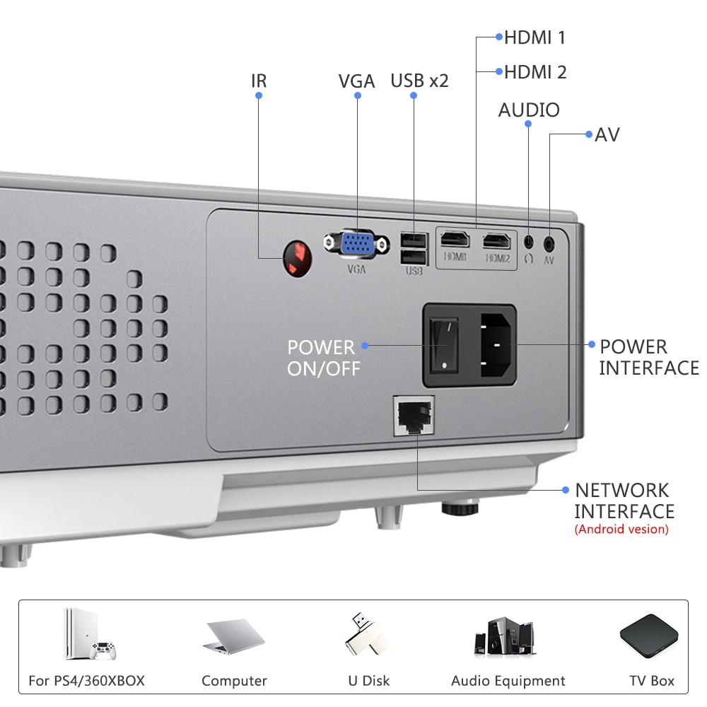 Thundeal TD96 1080P Mini portatil projector full hd com 7000 lumens 3d android video led projetores de home beamer cinema em casa  wifi proyector smartphone para epelhamento celular  sincronização   Oferta-4