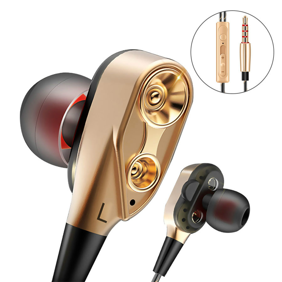 Wired Earbuds Headphones 3.5mm In Ear Earphone Earpiece With Mic Stereo Headset For Samsung Xiaomi Phone Computer