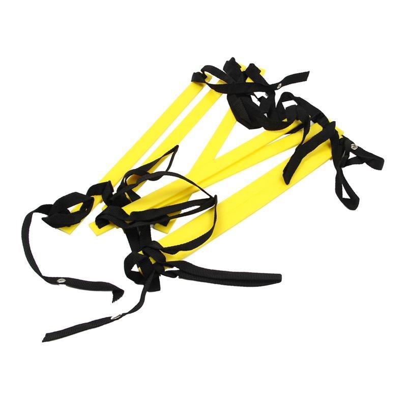10 Feet Agility Speed Ladder Soccer Training Ladder Quick 7 Flat Rung Speed Ladder-Yellow