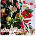 Забавная Рождественская электрическая подвесная лестница Санта Клауса для альпинизма, украшения рождественской елки, вечерние подарки дл...