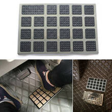 1PC Black PVC+Steel Car Floor Carpet Pad Foot Mat Heel Pedal Patch Cover 23x15cm Car Mat Wear Step(China)