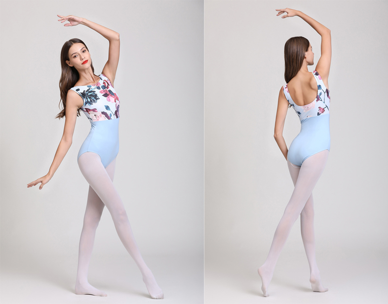 Ballet Leotard Adult Sky Blue High Quality Practice Ballet Vest Dancing Costume Women Gymnastics Leotard Dance Coverall