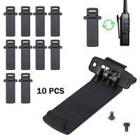 5re uv 5ra uv 10pcs מקורי Baofeng UV5R חגורה קליפ עם Screrws עבור Baofeng UV5R UV-5RA UV-5RE סדרה מכשיר הקשר ריידו UV 5R (1)