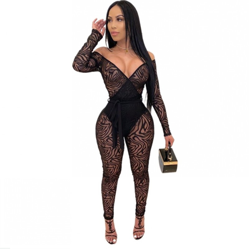 Womens Rompers Jumpsuit Elegant Summer Sexy Lace Top One Piece Black Party Clothes 2020 Fashion Nova Ladies Long Pants Overalls