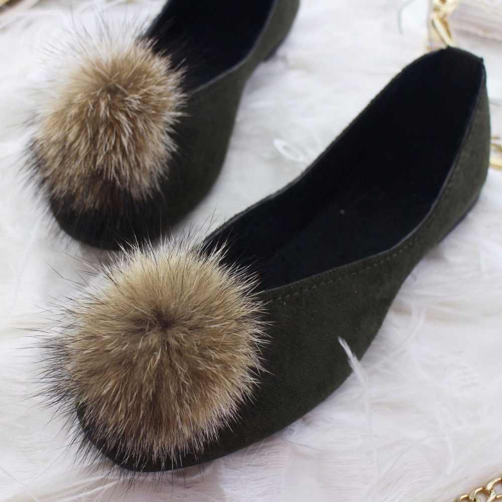 2020 Flock frauen Wohnungen für Neue Sommer Slip-On Runde Kappe Beiläufige Flache Schuhe Grundlegende Ballett Schuhe Frau größe Plus Frauen Flache Schuhe