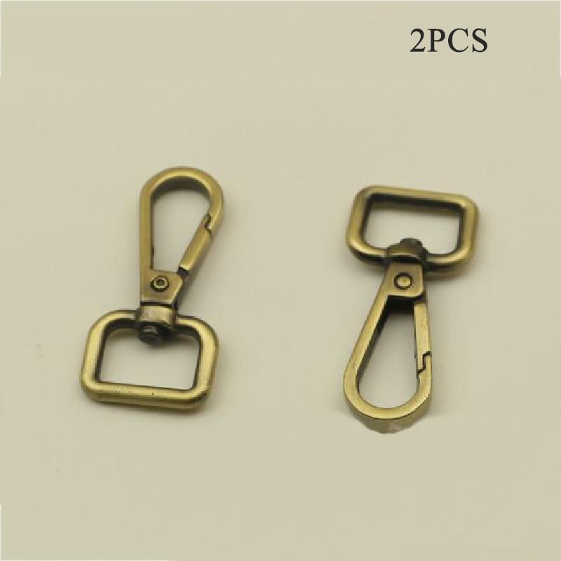 5cm 2Pcs Metal Hook Clips Buckles Detachable Snap Hook Bag Strap Belt Webbing Pet Leash Hooks DIY Replacement Bag Accessories