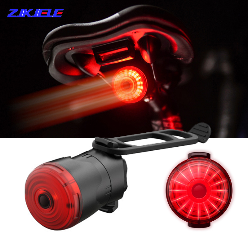 Smart LED Bicycle Light Rear Back Road Brake Light Safety Signal USB Rechargeable Cycling Lamp Latern Flash Taillight for Bike
