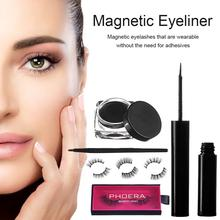 Magnetic Eyeliner Eyelashes Kit 3D Liquid Waterproof False Lashes Eyelash Curler Reusable