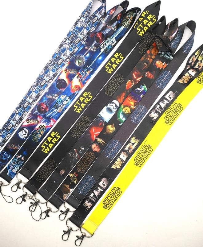 New 10 Pcs/20 Pcs/50 Pcs  Cartoon Star Wars  Lanyard Key Lanyard Cosplay Badge ID Cards Holders Neck Straps Keyring