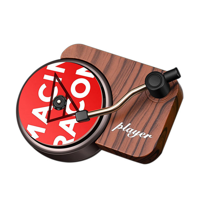 Interior Mini Clip Air Vent Record Player Shape Universal Vintage Decoration Freshener Car Perfume Fragrance Diffuser Auto 5