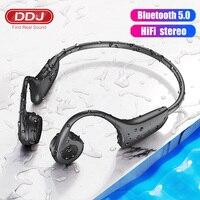 DDJ Für Samsung Drahtlose Bluetooth Kopfhörer Knochen Leitung Kopfhörer MP3 Palyer Gebaut In 8G Speicher Headset Mit Mikrofon