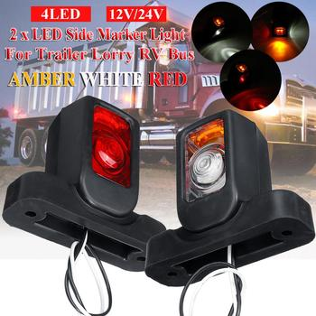 10pcs set 12v 6led yellow waterproof truck trailer lorry bus side marker light indicators signal light 2Pcs 12/24V Truck LED Side Marker Light Triple Amber White Red Indicator Lamps For Trailer Lorry RV Bus trailer Light