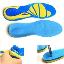 Deporte estable militar Unisex antideslizante correr ortopédico cojín de la plantilla TPE insertar zapato almohadilla para pie cuidado absorción de choque #734