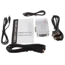 Universal NTSC PAL VGA to TV AV RCA signal adapter converter Video Switch Box composite for laptop недорого