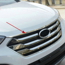 Fit For 2013 2014 2015 Hyundai Santa Fe Santafe IX45 Engine Trim Chrome Hood Guard