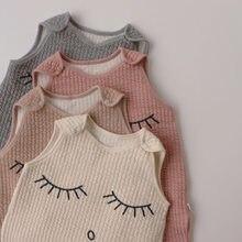 Sac de couchage en coton pour bébé, gilet de dessin animé, doux, pour enfant en bas âge, pyjama, combinaison, printemps-automne