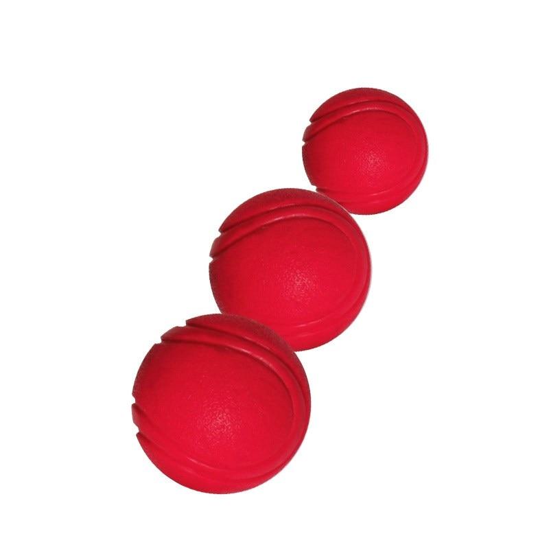 Тренировочная жевательная игрушка для домашних животных, Нетоксичная твердая натуральная резина, мяч для прыжков для собак и кошек, маленький размер-1