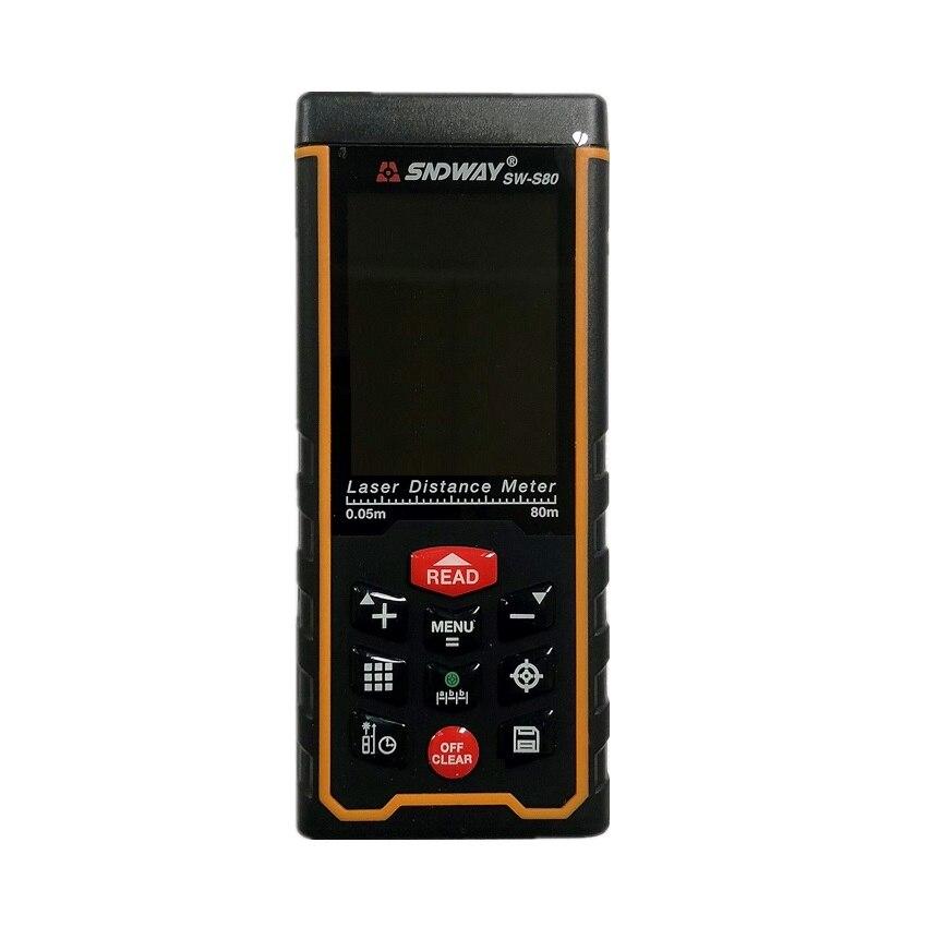 SNDWAY SW-S80 80m Digitale Laser abstand meter entfernungsmesser Farbe display W-kamera aufladbare Laser Range Finder