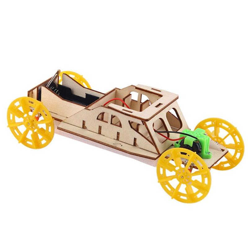 Fun Creative DIY Wood Car Develop Endurance And Concentration Multi-function Materials Kit Early Education Assembly Toys