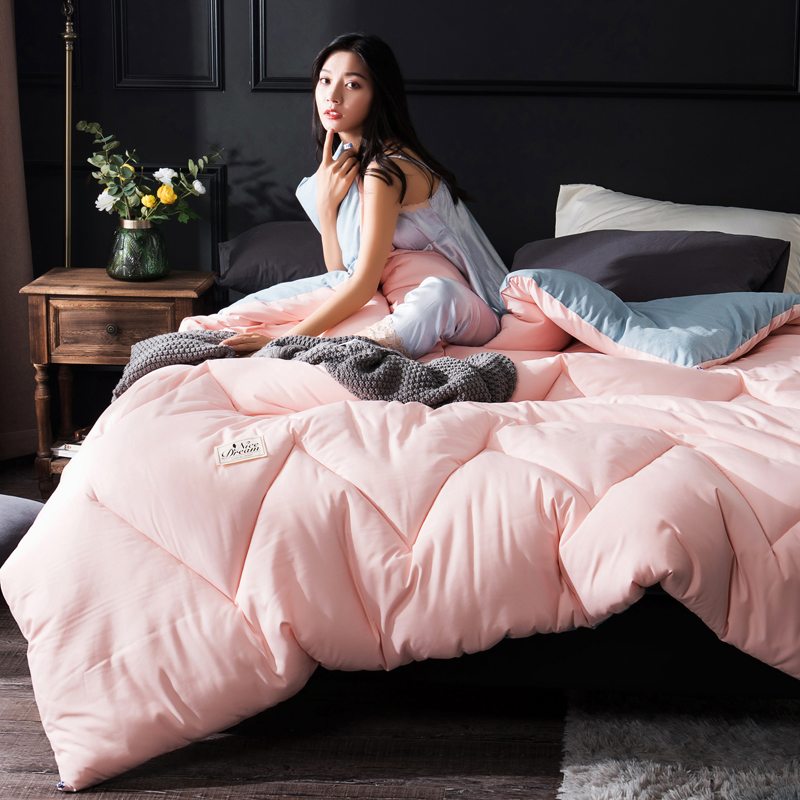 5 Colors Choose 100% Pure Wool Winter Quilt Comforter Blanket Duvet Filling With Cotton Cover Twin Queen King Size