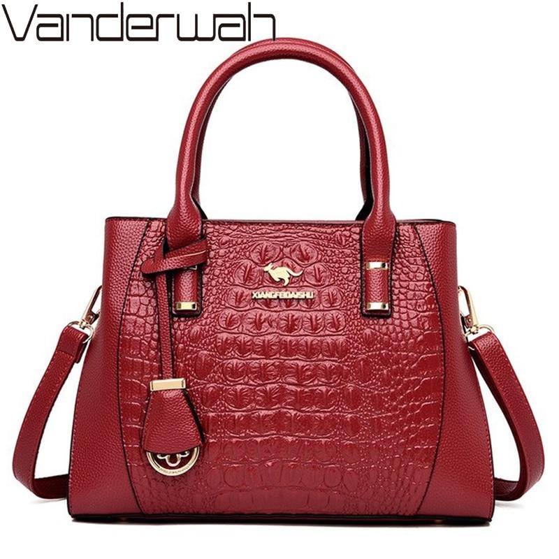Elegant Women Handbag Luxury Handbags Women Bags Designer Crocodile Pattern Crossbody Bags For Women Shoulder Messenger Bag Sac