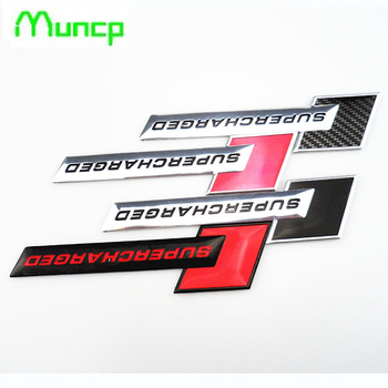 New 3D Metal Motorsport SUPERCHARGED Car styling Emblem Badge Sticker for BMW all series 1 2 3 4 5 6 7 X E F-series E46 E90 X1 image