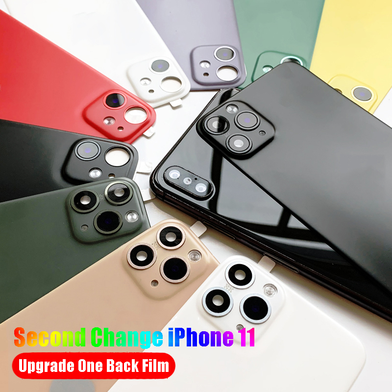 New Update Back Film Protector For IPhone XR X XS Max Seconds Change IPhone 11 Pro MAX Lens Sticker Modified Metal Camera Cover