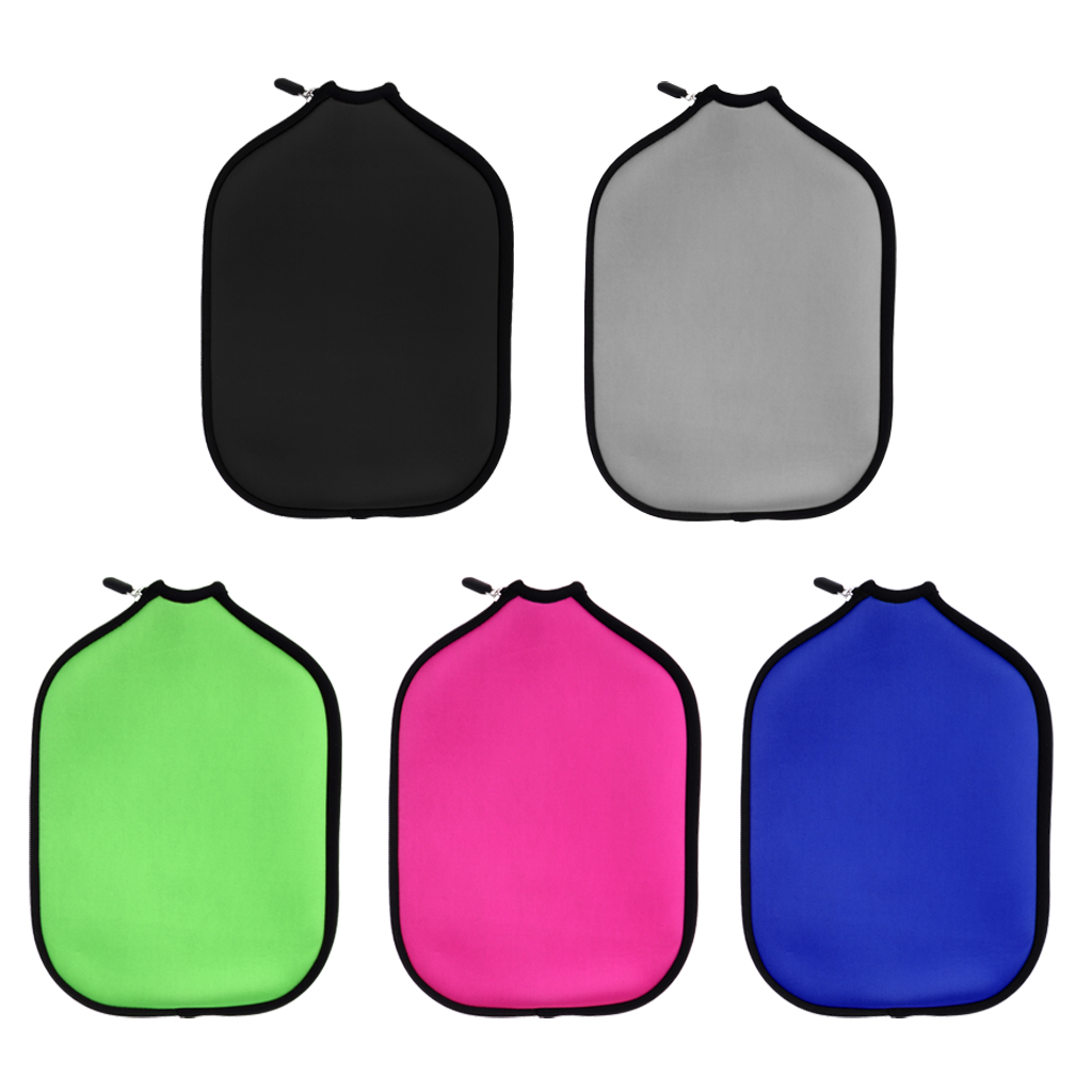 Pack 5 Sports Pickleball Paddle Cover Neoprene Protection Sleeve Zipper Case