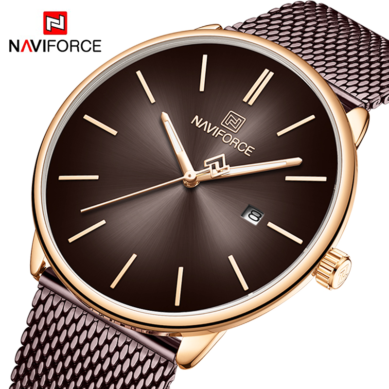 Luxury NAVIFORCE Lover's Watches For Men And Women Simple Casual Quartz Wristwatch Waterproof Clock Couple Watches Gifts 2020
