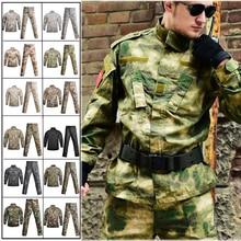 Military Tactical Uniform Jacket + Cargo Pants Camouflage Tactics Airsoft Paintball Combat Uniforms Us Army Men Clothing Set