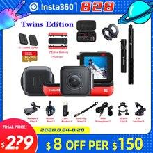 Insta360 bir R eylem kamera VR 360 4K 5.7K Twins baskı panoramik kamera iPhone x xs Android 5.7K Video 18MP Insta 360