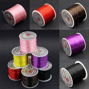 Image 5 - 393inch/Roll Strong Elastic Crystal Beading Cord 1mm for Bracelets Stretch Thread String Necklace DIY Jewelry Making Cords Line
