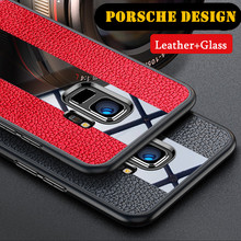 цены на Luxury leather case for Meizu M6/M6note/M6S/M5 Meizu note8/9 Porsche TPU mobile phone back cover for Meizu M6s/M6t  в интернет-магазинах