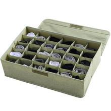 30 siatki krawaty skarpetki bielizna dzielnik szafa organizator przechowywanie pudełko z pokrywką organizery szuflad tanie tanio CN (pochodzenie) Z tworzywa sztucznego 43cm x 29cm x 13cm